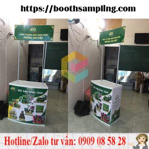 booth ban hang sampling luu dong