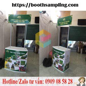 booth ban hang sampling luu dong