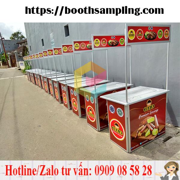 booth nhom ban hang sampling