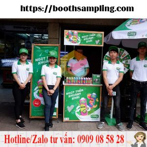 booth sampling ban hang luu dong quan tan phu