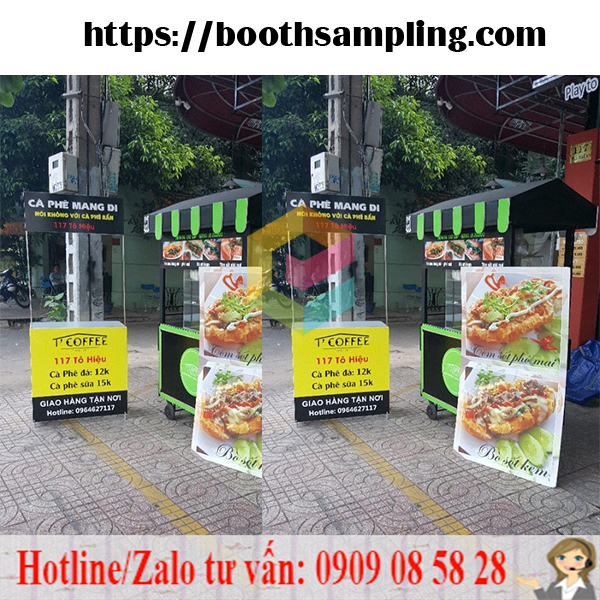 booth sampling ban hang luu dong