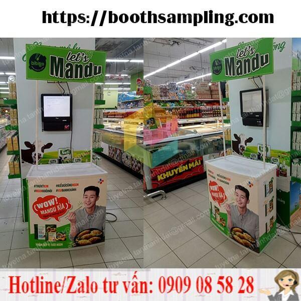 booth nhua ban hang