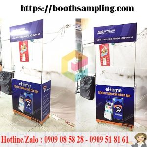 booth sampling sieu thi