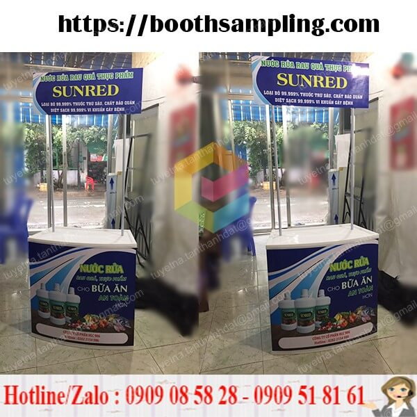 booth nhua thao lap