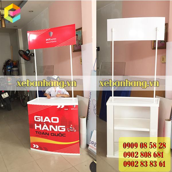 cung cap booth sampling trung bay san pham