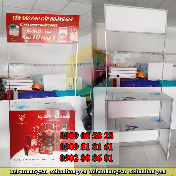 quay trung bay san pham bang sat tphcm