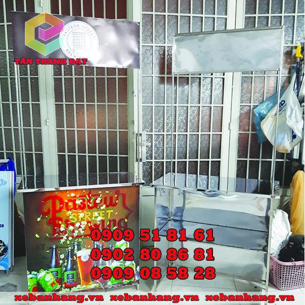 booth ban hang bang inox