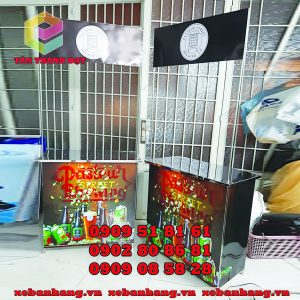 cung cap booth ban hang bang inox gia re
