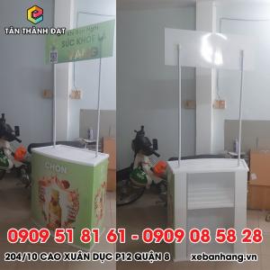 booth quang cao san pham bang nhua